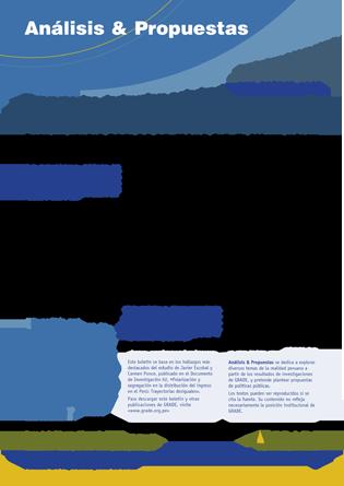 Trayectorias desiguales: polarización y segregación en la distribución del ingreso en el Perú
