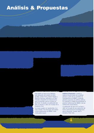 Estrategias de intervención para el desarrollo rural en la Sierra sur del Perú: un estudio comparativo